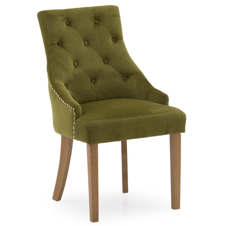 Hepburn Dining Chair - Velvet Moss