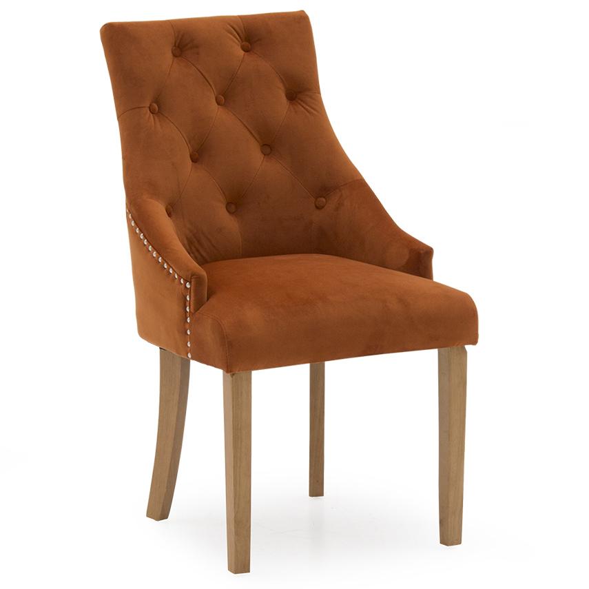 Hepburn Dining Chair - Velvet Pumpkin