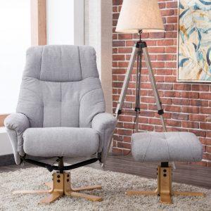 Dublin Chair & Stool Lisbon Silver Fabric