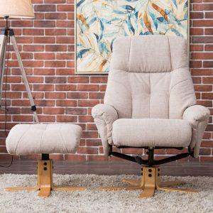 Dublin Chair & Stool Lisbon Wheat Fabric