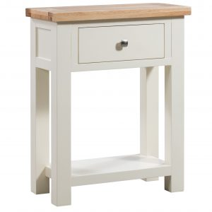 Maiden Oak Painted Small Console Table