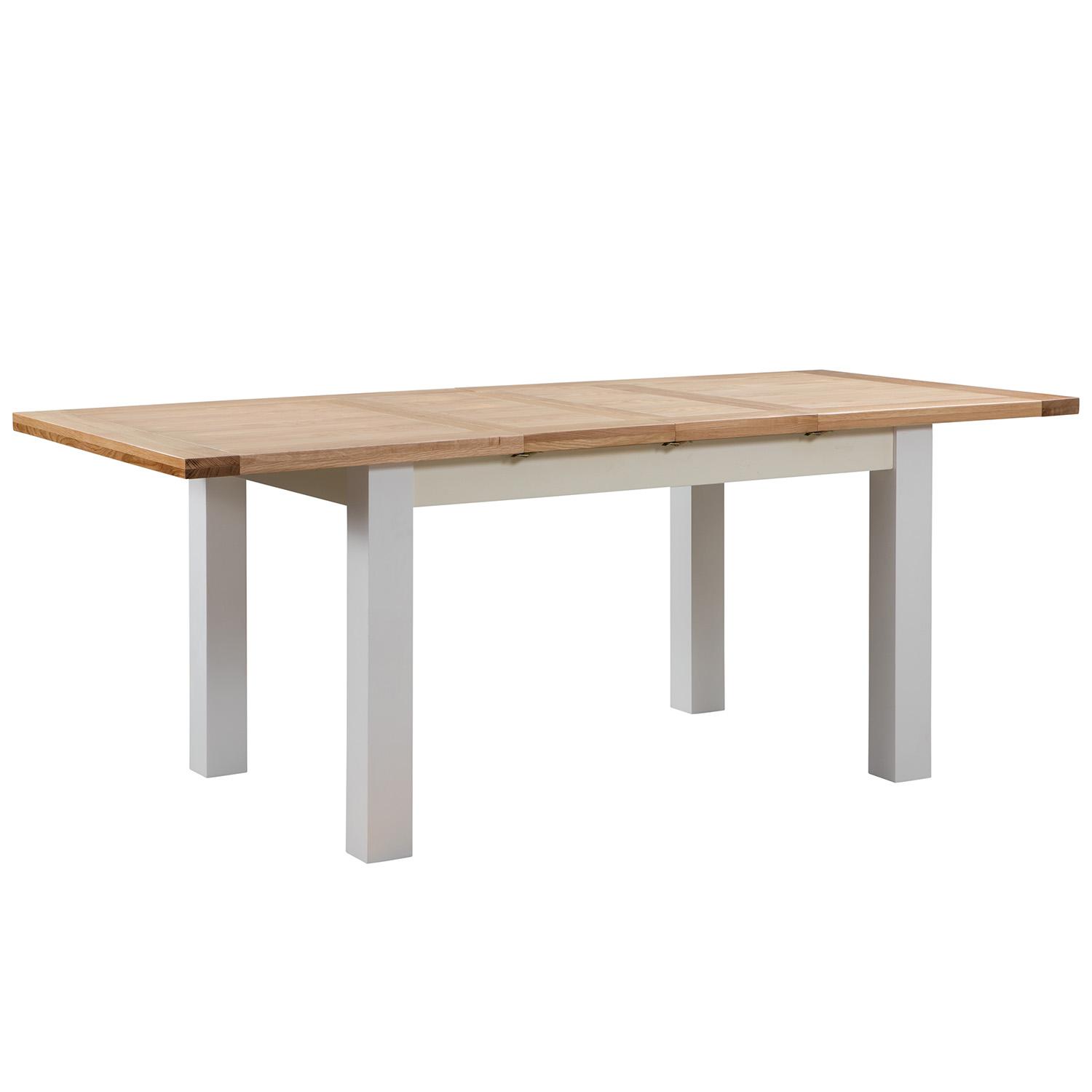 Maiden Oak Painted Dining Table with 2 Extensions 132-198 x 90