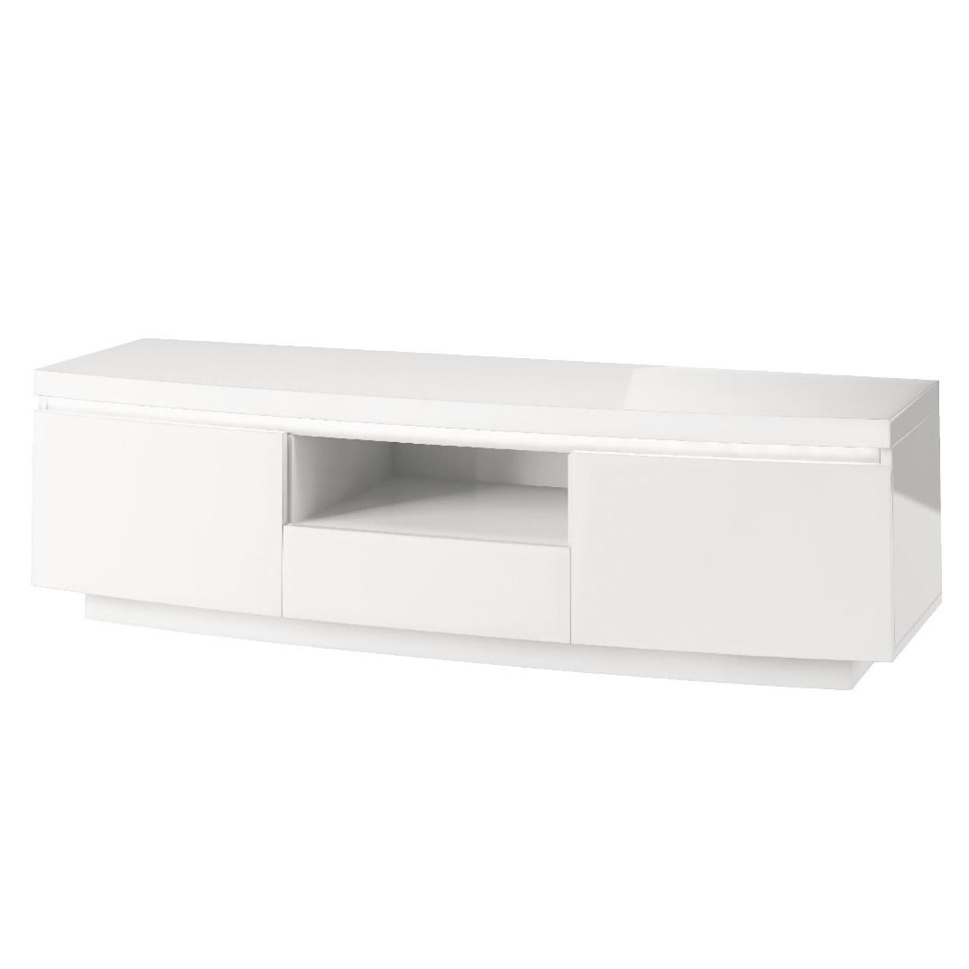 Florence Entertainment Unit with LED White