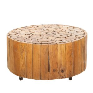 Ashdown Natural Teak Coffee Table on Wheels