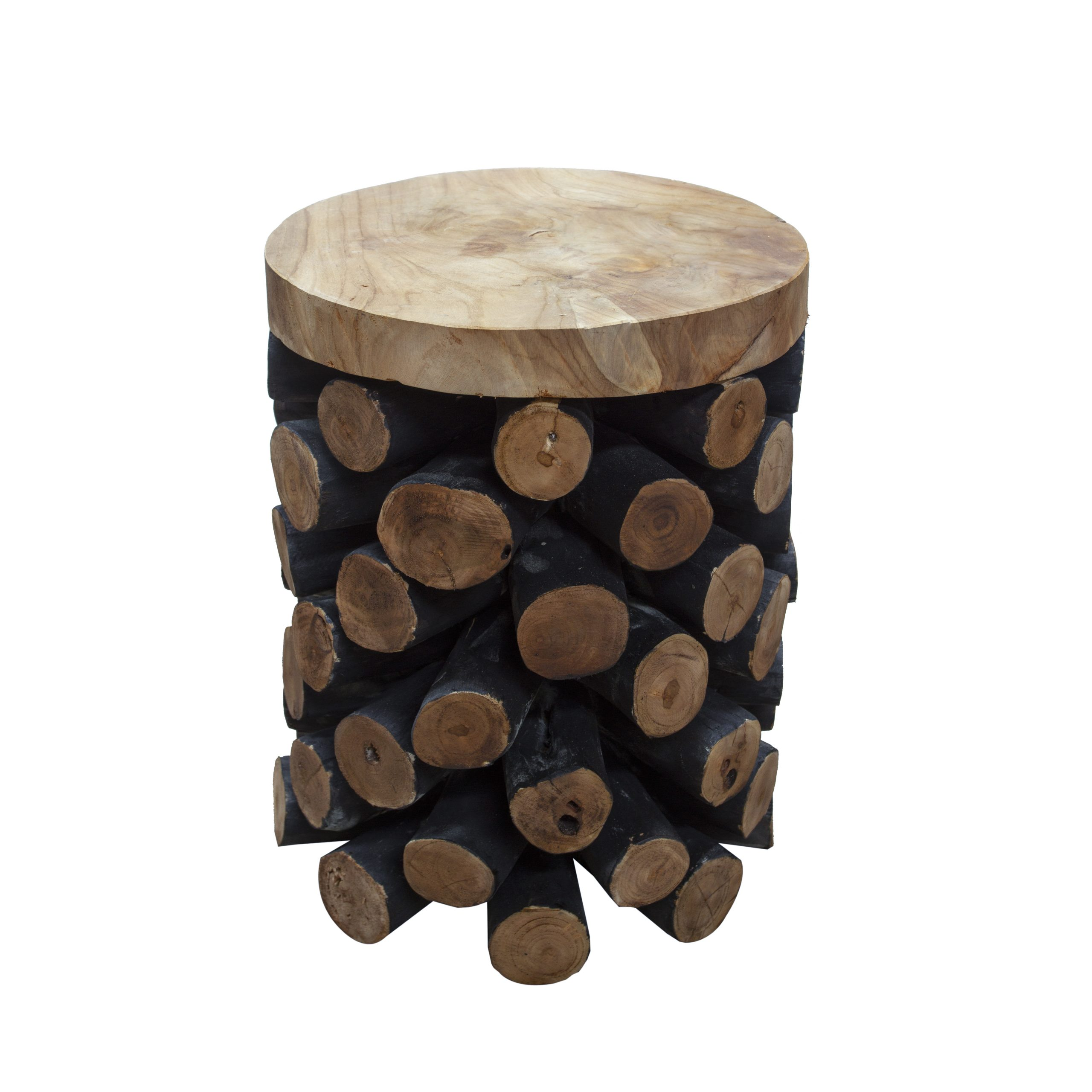 Ashdown Natural Teak Branch Pineapple Stool