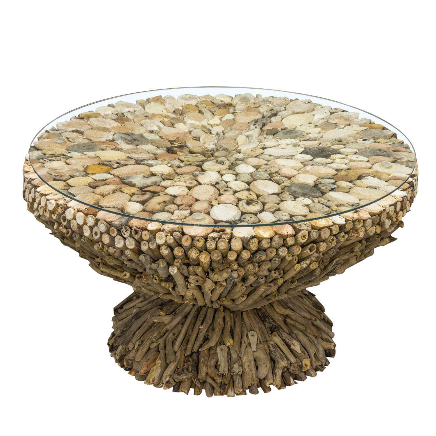 Charnwood Round Coffee Table with Glass Top