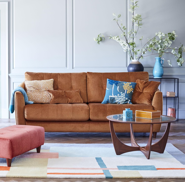 G Plan Nancy Small Sofa Double