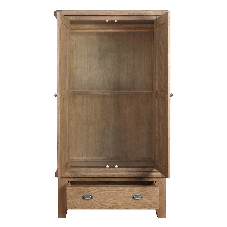 Hertiage Oak 2 Door Wardrobe