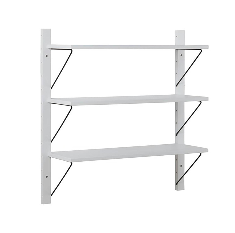 Dakota 3 Shelf Wall Unit - White