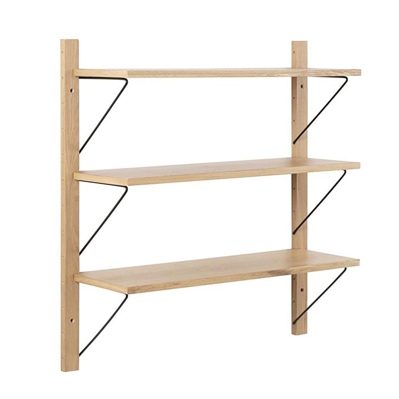 Dakota 3 Shelf Wall Unit - Wild Oak