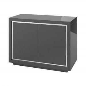 Bremen 2 Door Sideboard with LED Grey