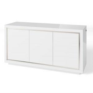 Bremen 3 Door Sideboard with LED White