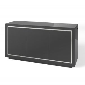 Bremen 3 Door Sideboard with LED Grey