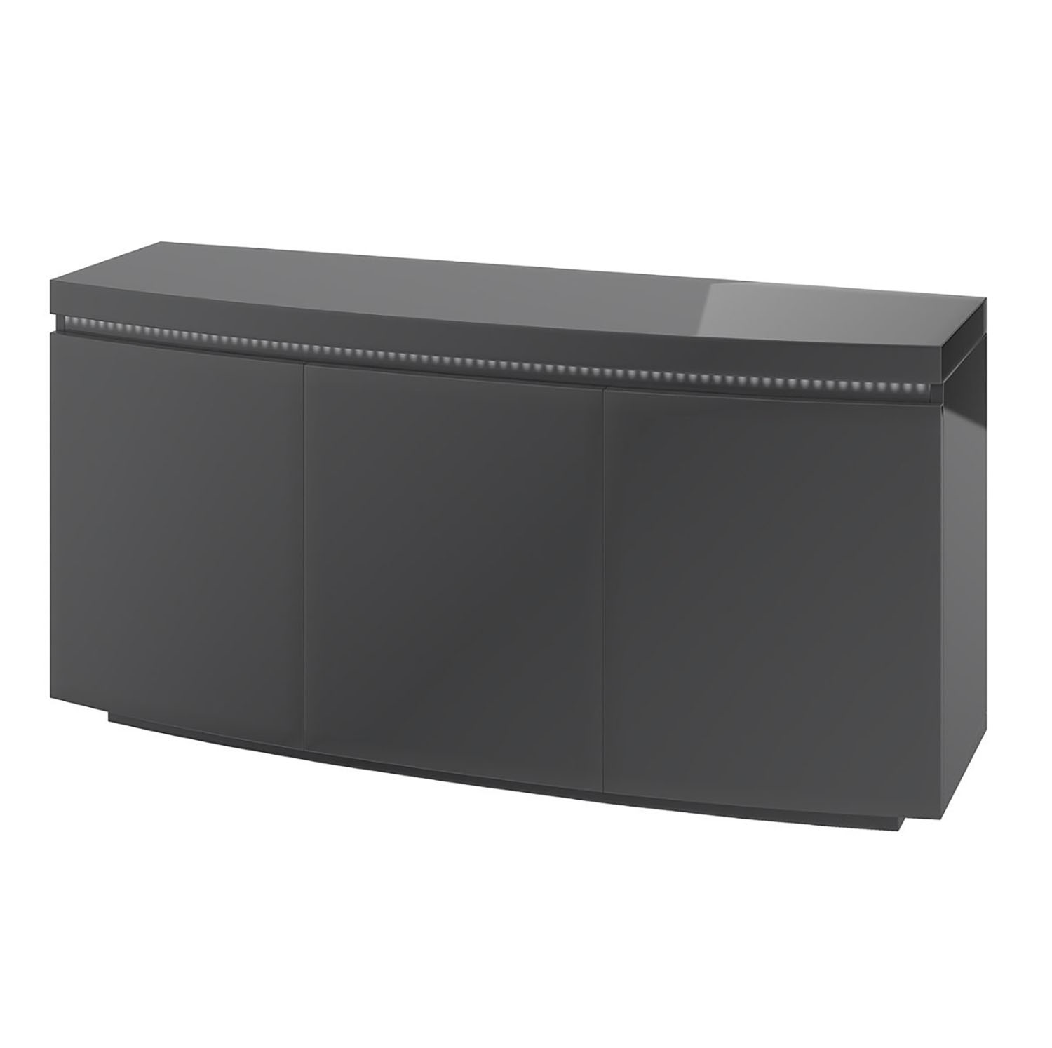 Florence 3 Door Sideboard with LED Grey