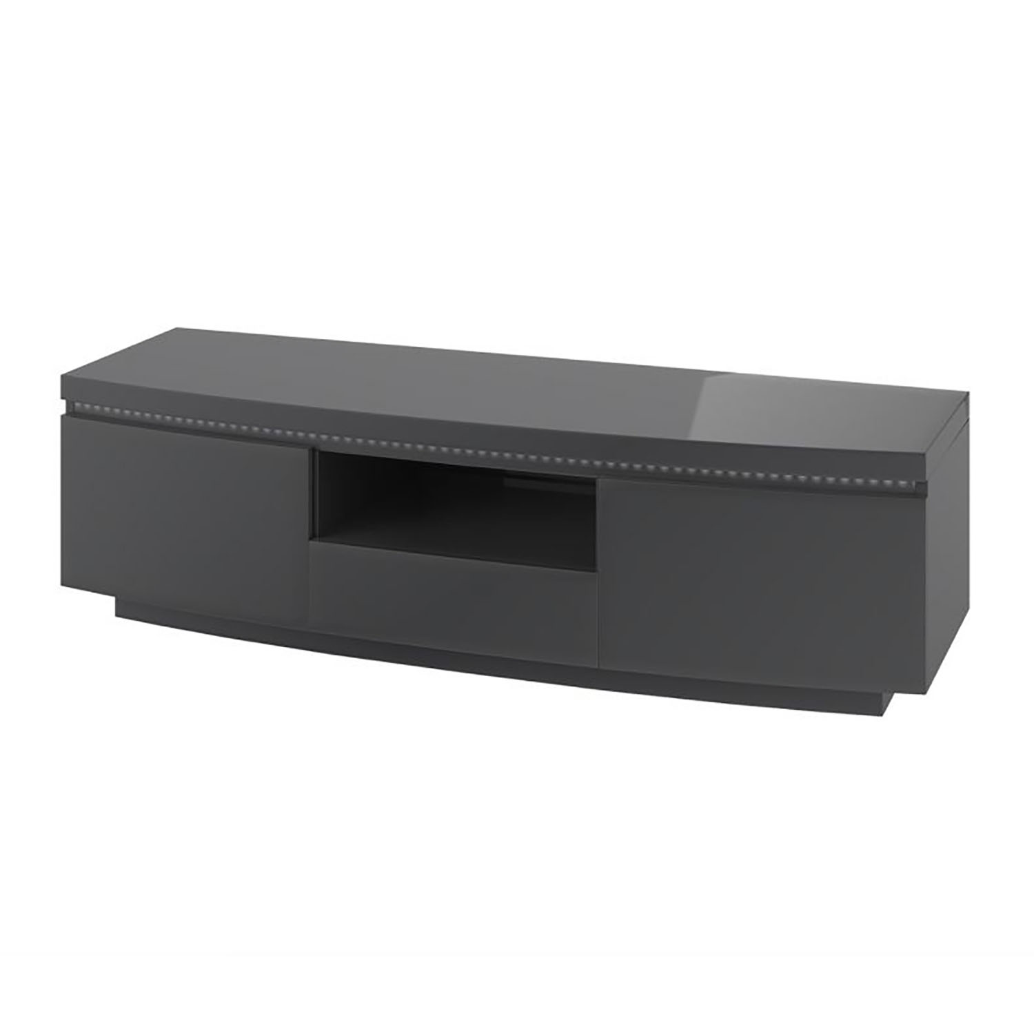 Florence Entertainment Unit with LED Grey