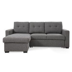 Harrison Corner Sofa Bed Grey