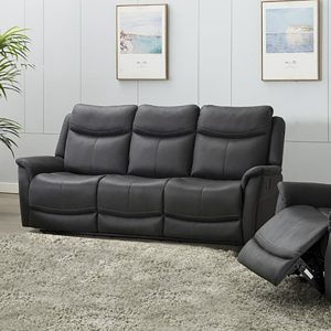 Ancona 3 Seater Recliner - Slate