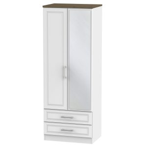 Kent Tall 2ft6in 2 Drawer Mirror Robe