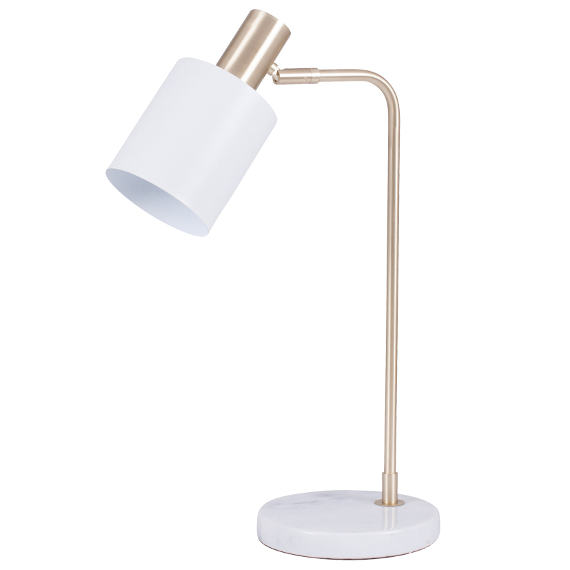 White and Gold Retro Table Lamp