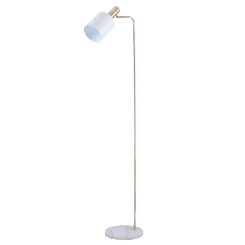 White and Gold Retro Floor Lamp