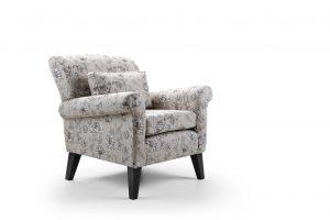 Beaumont Chair Floral Mocha