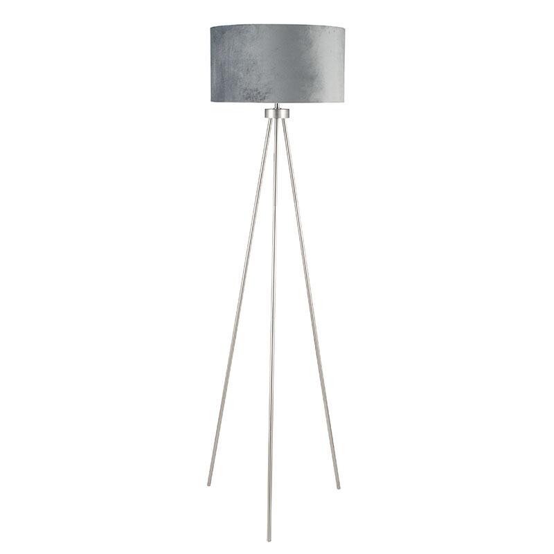 Brushed Sliver Tripod Floor Lamp