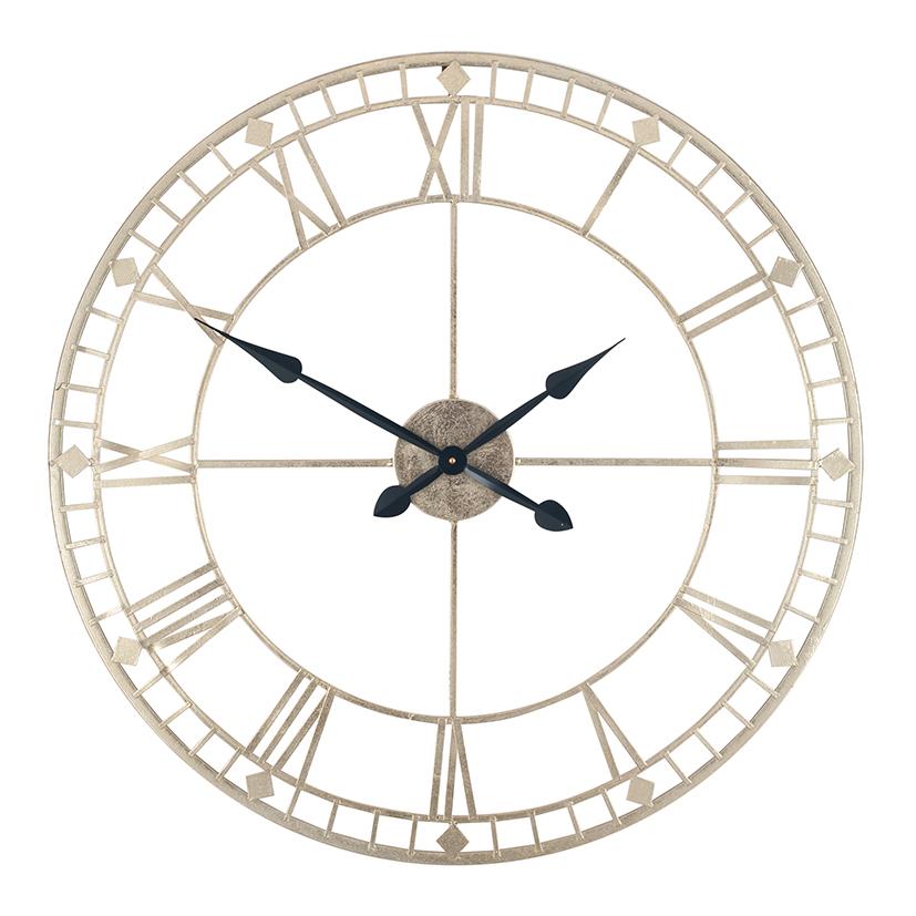 Antique Gold Metal Wall Clock