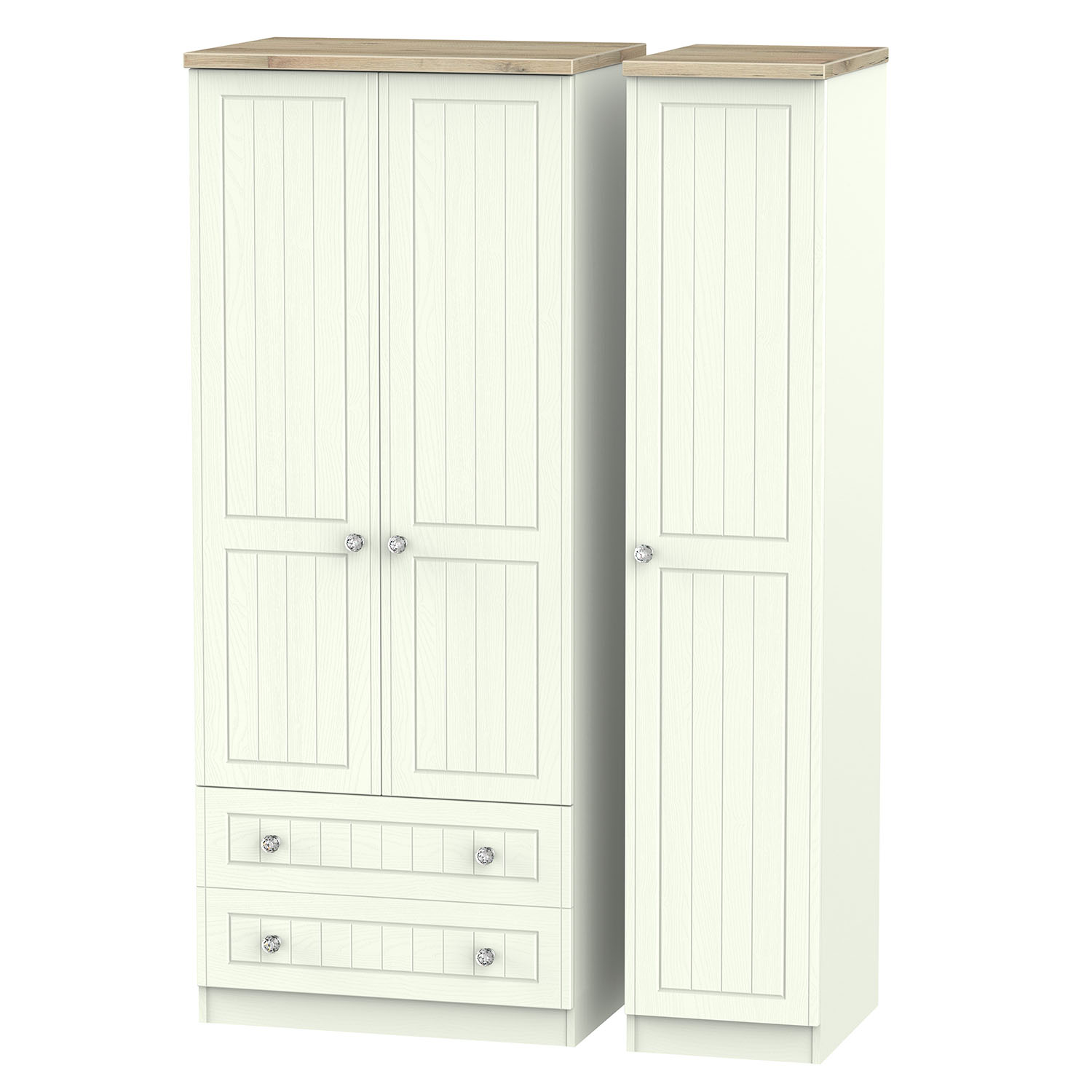 Rome Triple 2 Drawer Robe