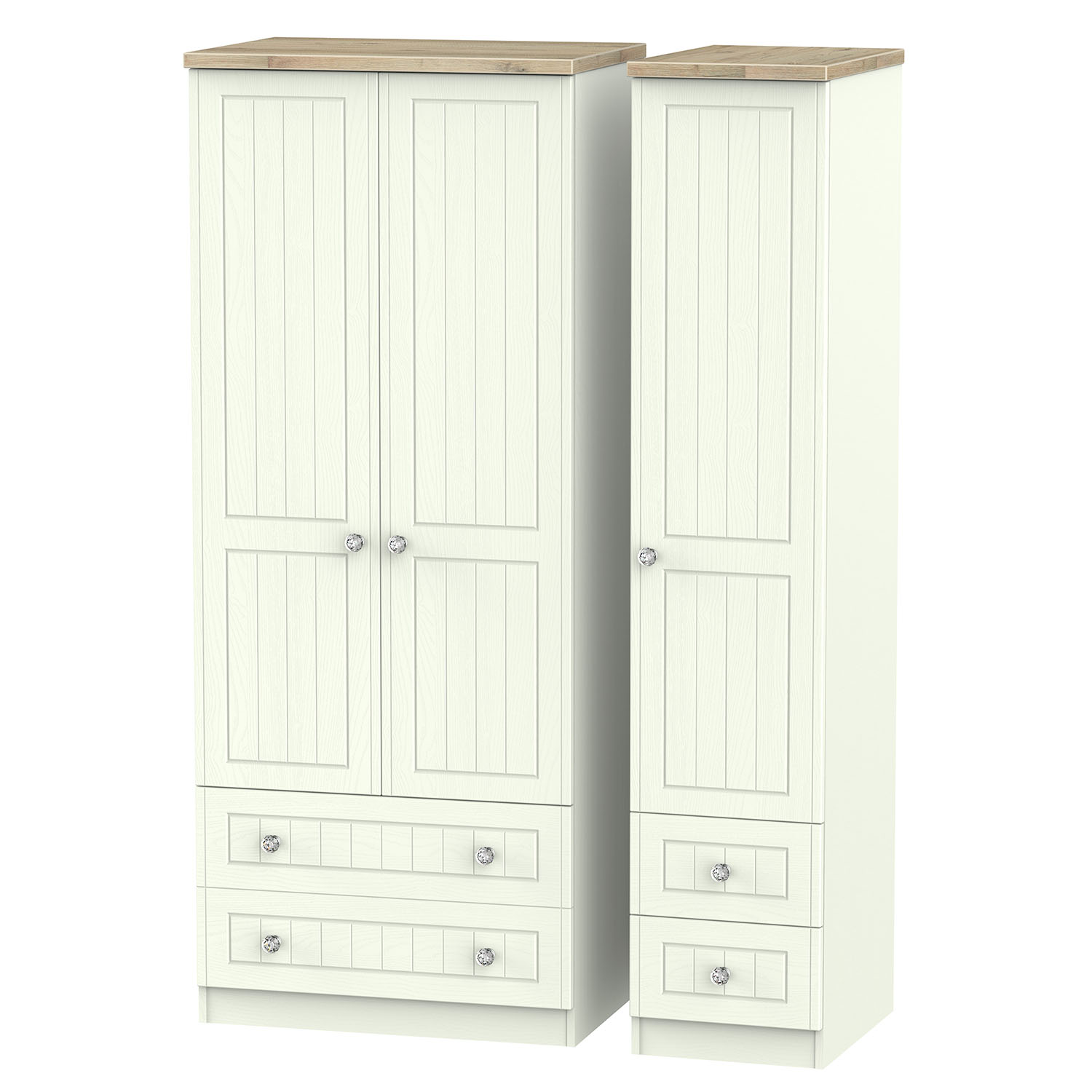 Rome Triple 2 Drawer Drawer Robe