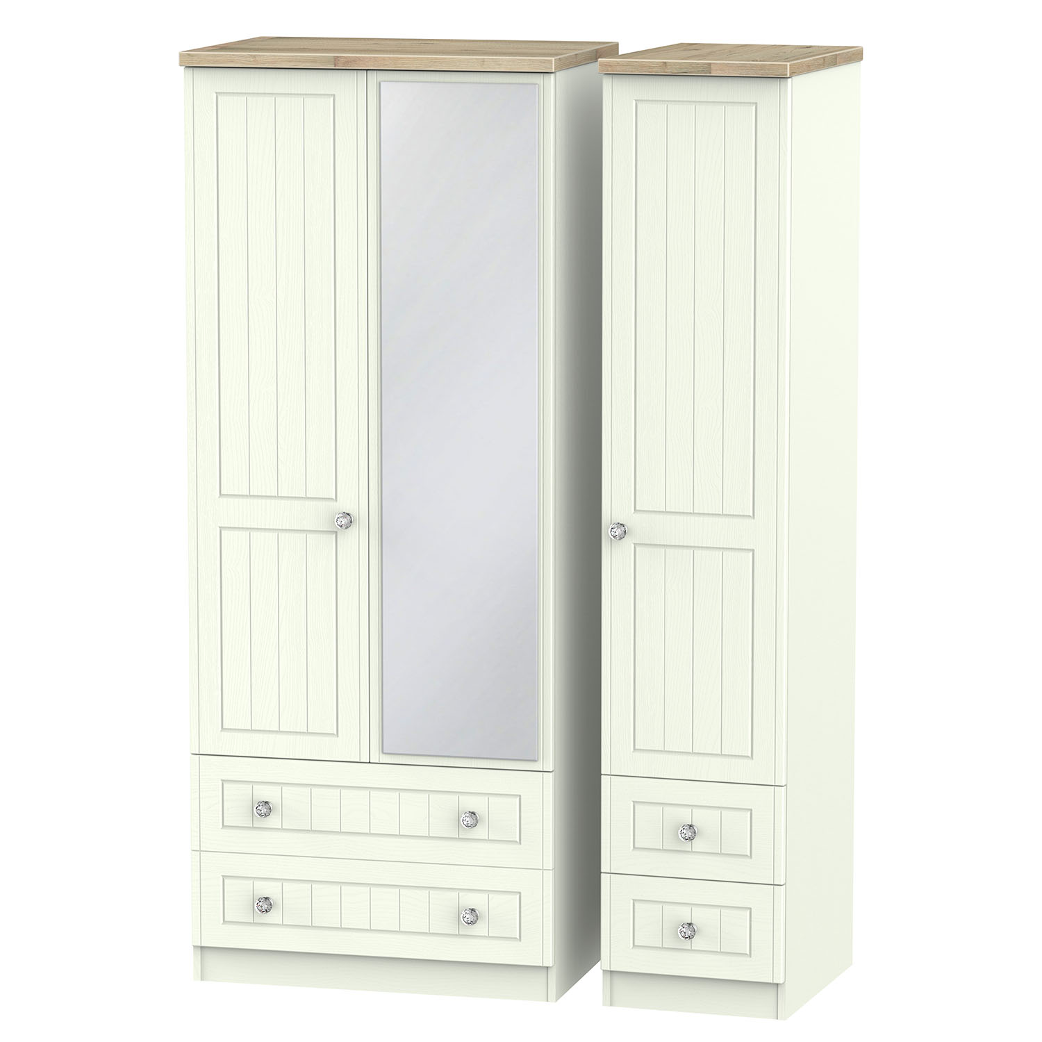 Rome Triple 2 Drawer Mirror Drawer Robe
