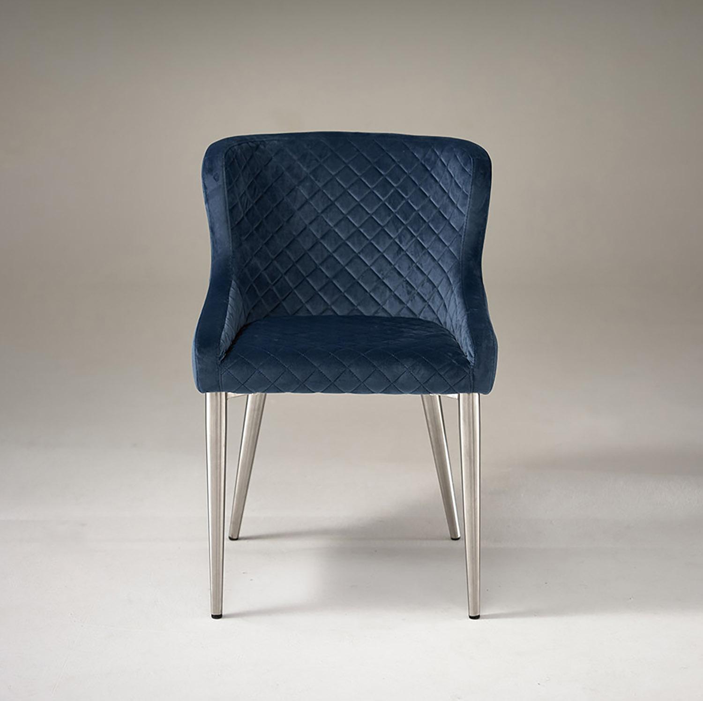 Kate Dining Chair - Velvet Ocean Blue