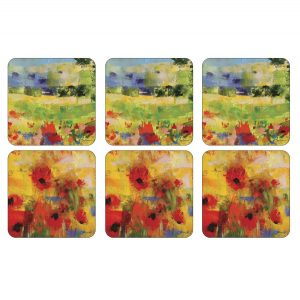 Pimpernel Impressionists Flowers Yellow Coasters Set of 6