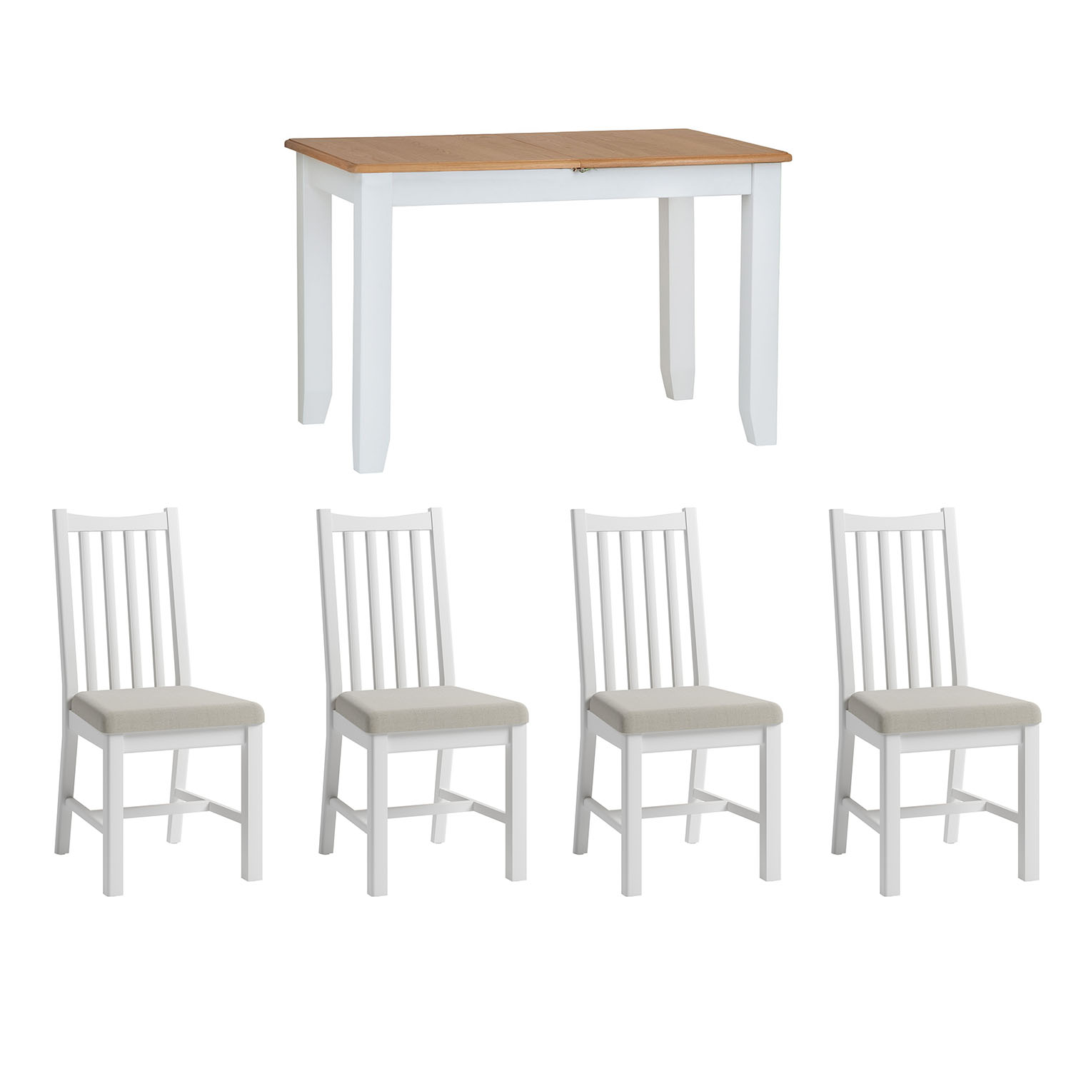 Hurstley Painted 1.2m Table and x4 Dining Chair Set