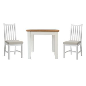 Hurstley Painted Fixed Top Table and x2 Dining Chair Set