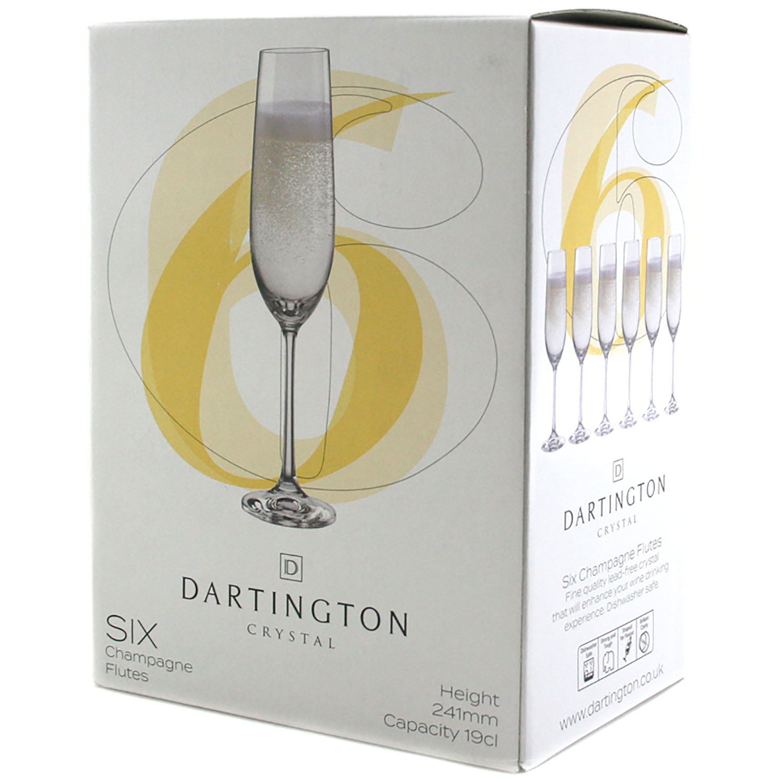 Dartington Crystal Flute Set of 6
