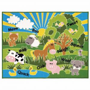 Kids Playtime Animals Mat 100x130