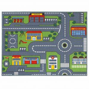 Kids Playtime Road Map Mat 100x133