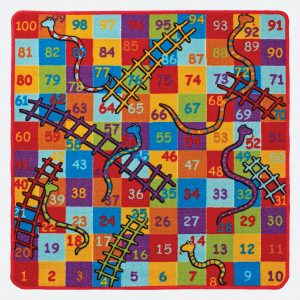 Kids Playtime Snakes and Ladders Mat 100x100