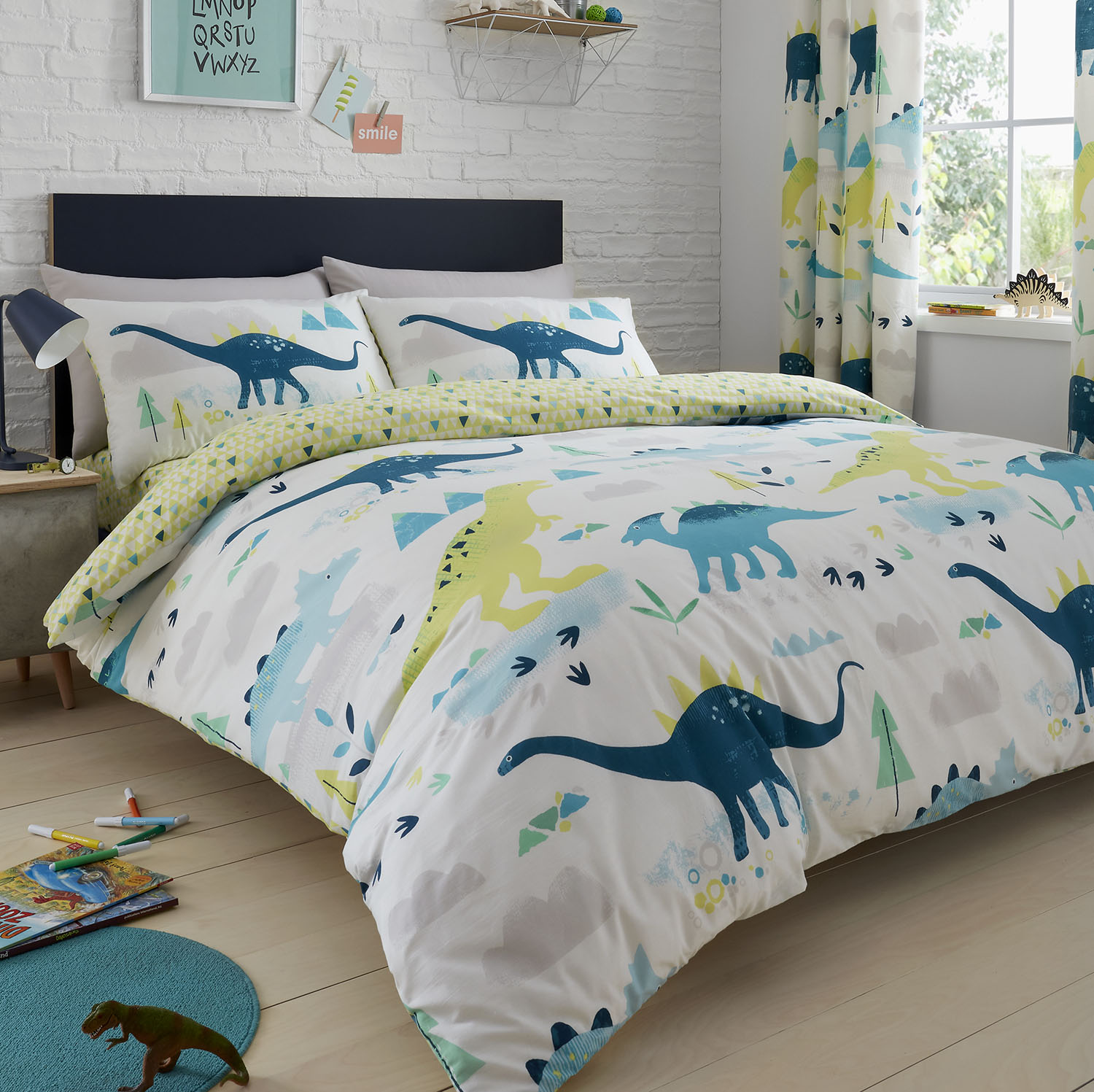 Dreams & Drapes Bedlam Dino Duvet Set