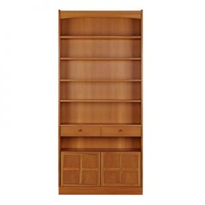 Nathan Classic Tall Bookcase With Doors 6404