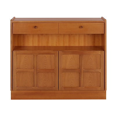 Nathan Classic Low Bookcase With Doors 6444