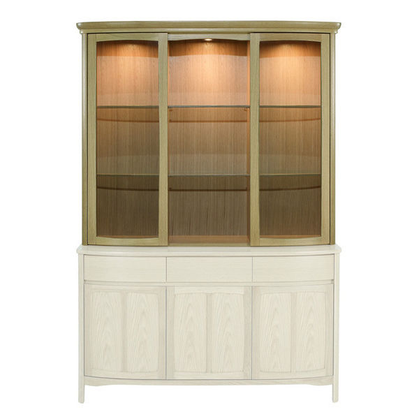 Nathan Shades Oak Shaped Glass Door Display Top Unit 4805