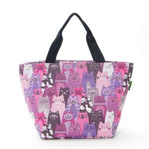 Cool bag - Purple Cats