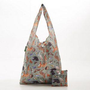 Foldable Shopper - Olive Woodland