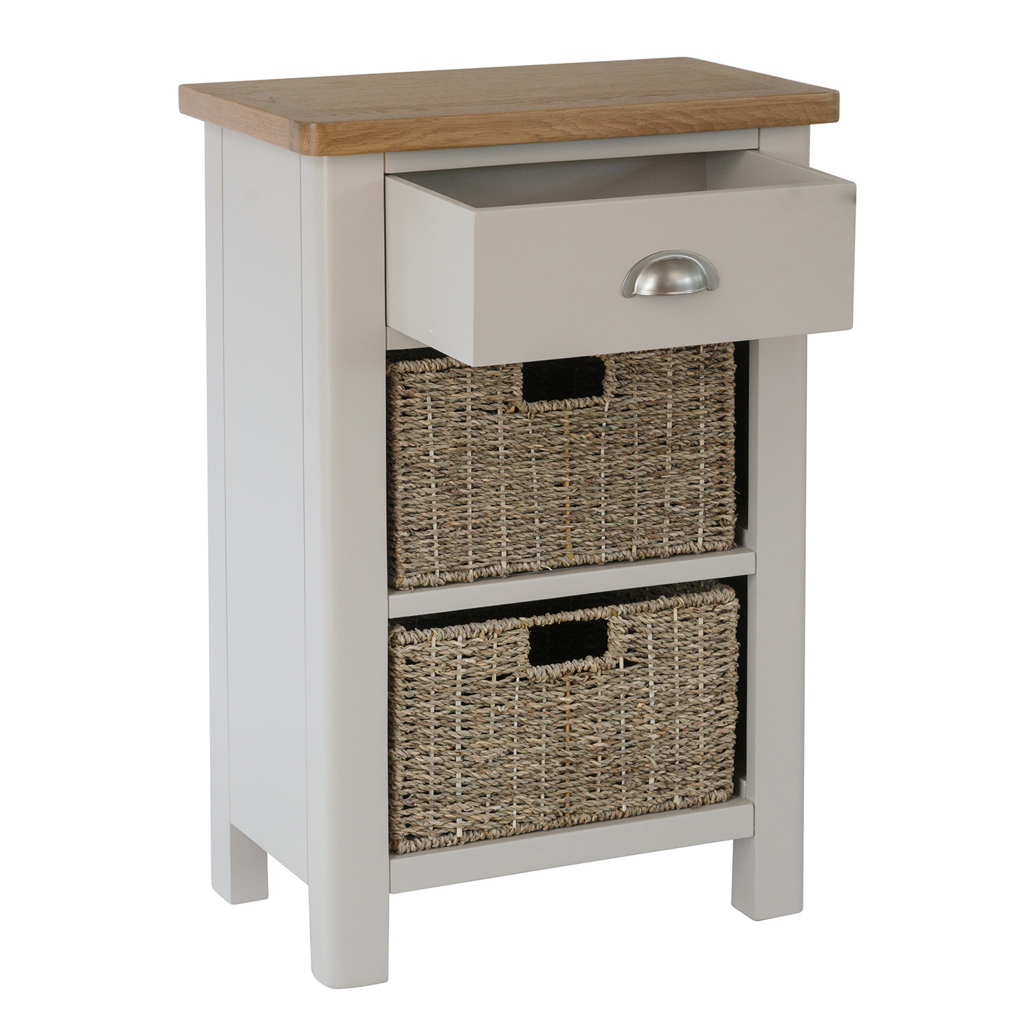 Chiltern Dove 1 Drawer 2 Basket Unit