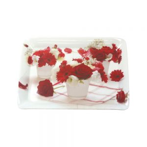 Red Flowers Scatter Tray