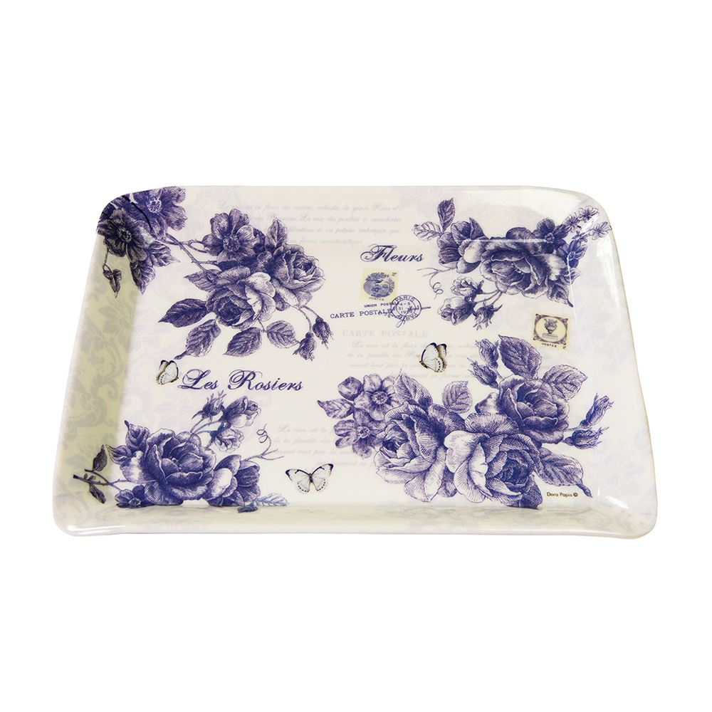Blue Rose Scatter Tray