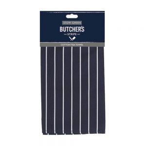 Butchers Stripe Cotton Tea Towel