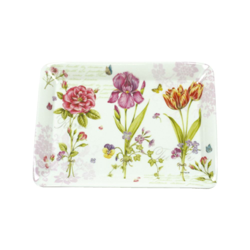 Romantic Flowers Scatter Tray