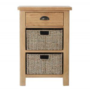 Chiltern Oak 1 Drawer 2 Basket Unit